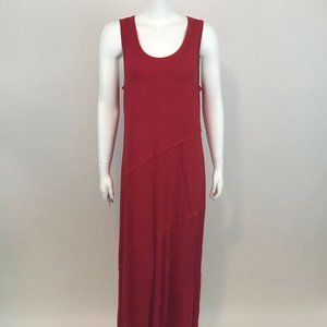 Style & Co Sleeveless Seam Red Maxi Dress PL